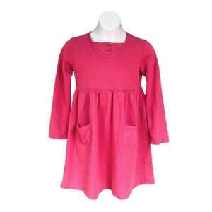 Hanna Andersson Pink Long Sleeve Pocket Dress Sz 8